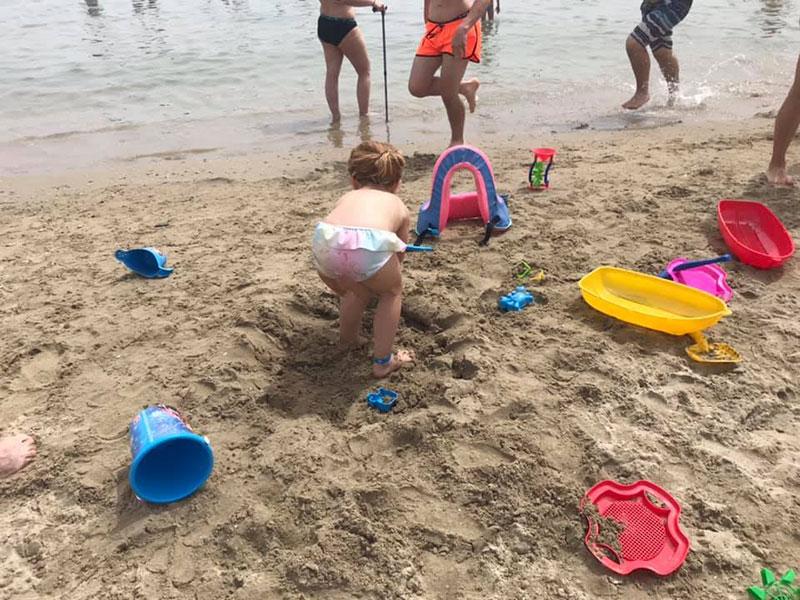 Giochi in spiaggia per i più piccoli
